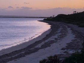 Brownlow Beach, Nepean Bay in the evening