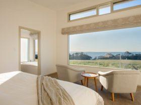 Oceanview Eco Villas bedroom view. Kangaroo Island Luxury Accommodation.