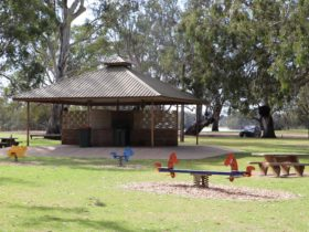 There are barbecue facilities and a shelter, plus a playground.