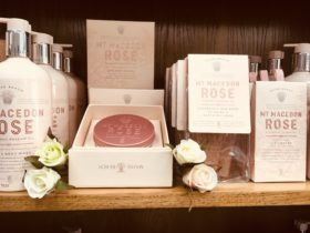 Mt Macedon Rose body mousse by Maine beach