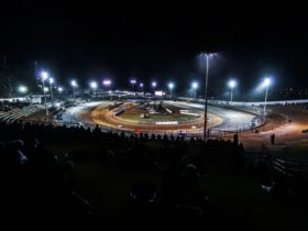 Murray Bridge Speedway come to life at night