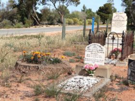 The two historic gravestones marking the resting place of two local children.