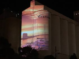 Wallaroo Silo Light Show