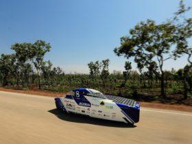 The Agoria Solar Team car 'BluePoint' from Belgium