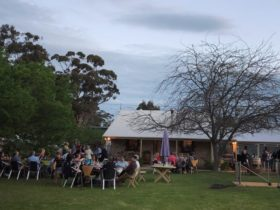 On the lawns at Eldredge Wines