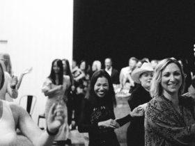 Ladies dancing and enjoying themselves.