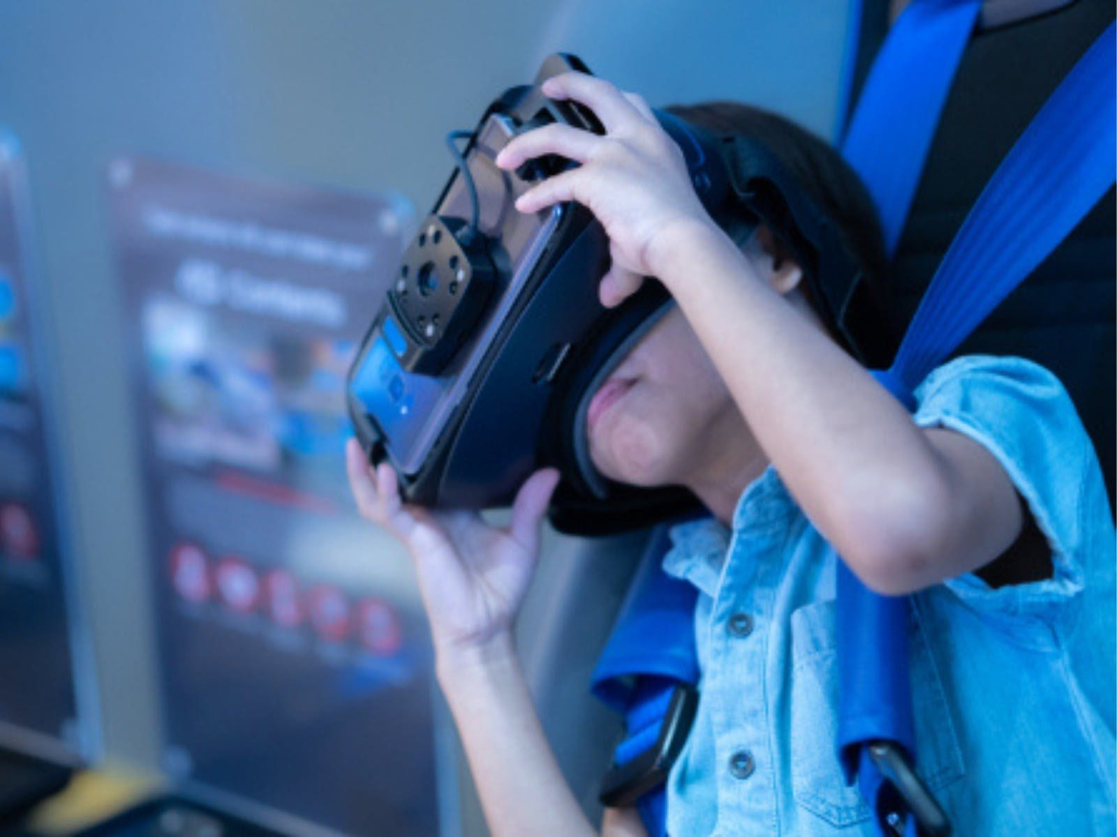 Child with VR head set