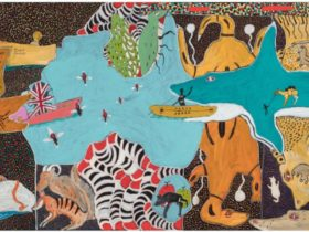 John (Prince) Siddon's painting called Australia: Mix it all up