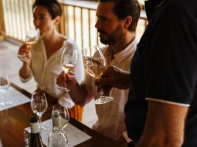 Wine Tasting on deck with Leigh Eldredge
