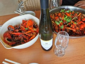 Spicy Marron and two wheeler creek wine