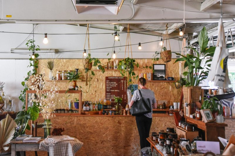 Our coffee bar, serving De Groot Coffee