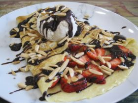 Strawberry Chocolate Crepe