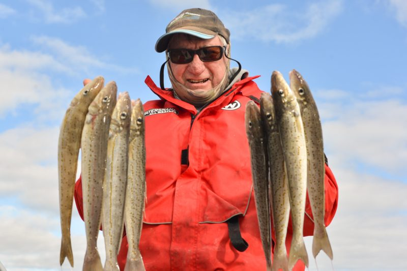 Downwind Charters regular Rod Webber with some tasty winter whiting