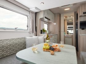 Let's Go Voyager Deluxe Motorhome with luxury, spacious living interior