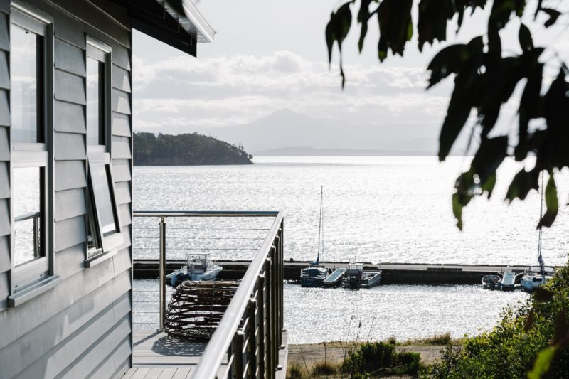 Bruny Boathouse with front seat views of D'Entrecasteaux Channel