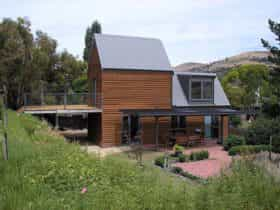 Outside view of Cabin.