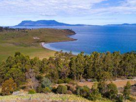 Views to Maria Island.