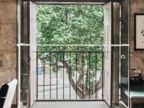 Views of Salamanca Placeout of original upstairs warehouse doors.