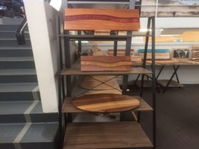 A selection of Tasmanian timber lazy susans, chopping boards, cheese knives and more