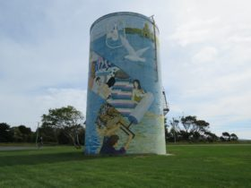 One view of the Water Tank Mural