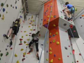 3 floors of climbing