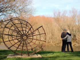 Riverbank sculpture