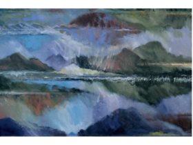 Paul Boam, Mt Rugby Variations, 1997, oil