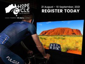 FulGaz Rider completing ride around Uluru