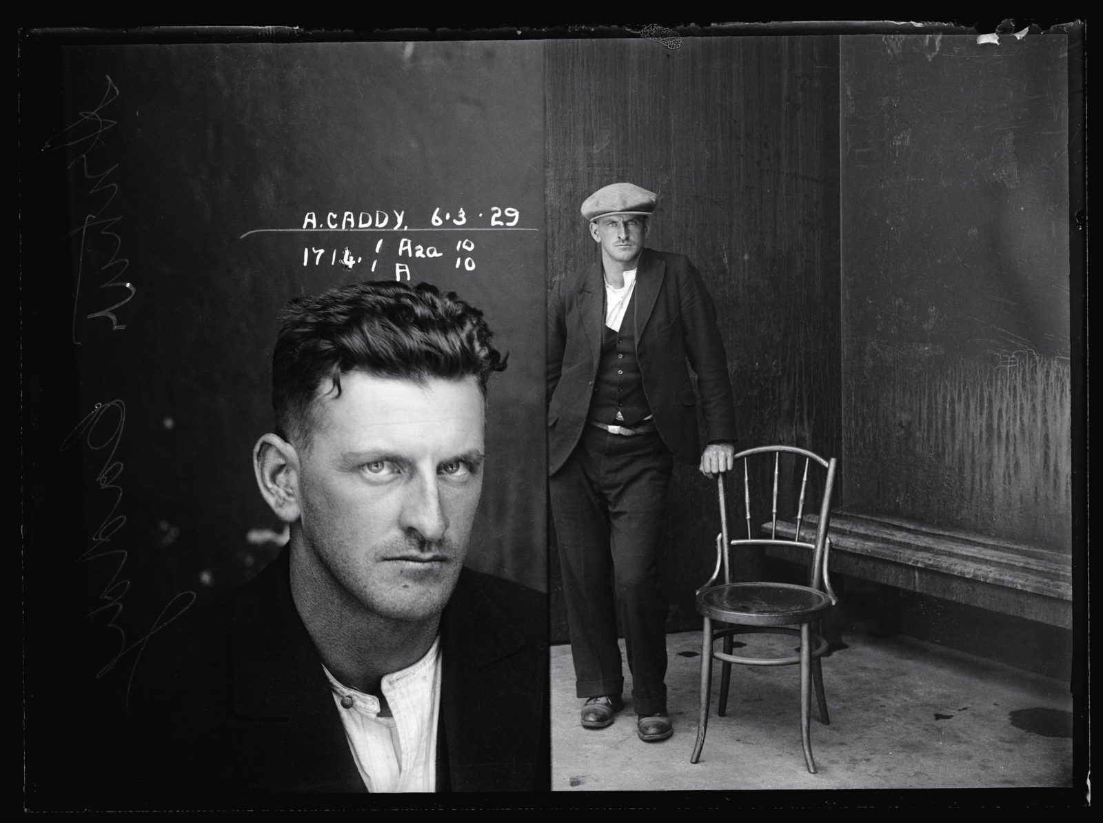 Arthur Caddy, 6 March 1929, Suspect, offence unknown, Special Photograph number 1714, NSW Police For