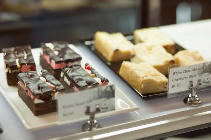 Tempting treats available at Tracks Cafe, Queenstown, Tasmania