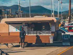 Caravan serving food on the Pier