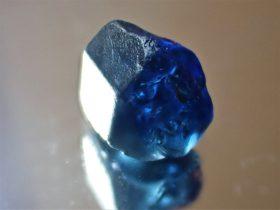 6 crt Tassie blue sapphire crystal
