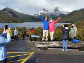 Cradle mountain is in the itinerary of Hearty Tasmania Tour