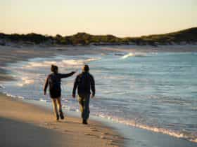 walking on Bay of Fires