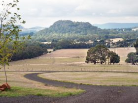 The incredible view of the world famous Hanging Rock from your suite.