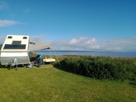 Camping overlooking the waterviews