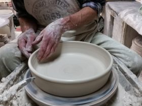 Hand throwing by skilled potters