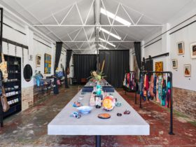 Inside Clan Collective, a local art gallery and design store in Preston.