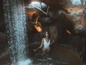 Rainforest Cave at the Deep Blue Hot Springs Warrnambool