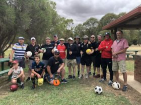 Grab some mates and play footgolf