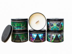 Wood Wick Candle with Native Artwork
