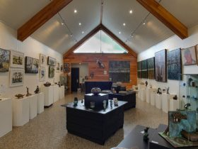 Gallery view from front with beautiful north facing window light