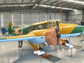 Local volunteers have spent 10 years restoring this Avro Anson from original parts.
