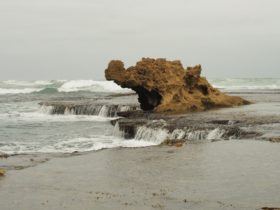 Dragon Head Rock at Number 16 Beach