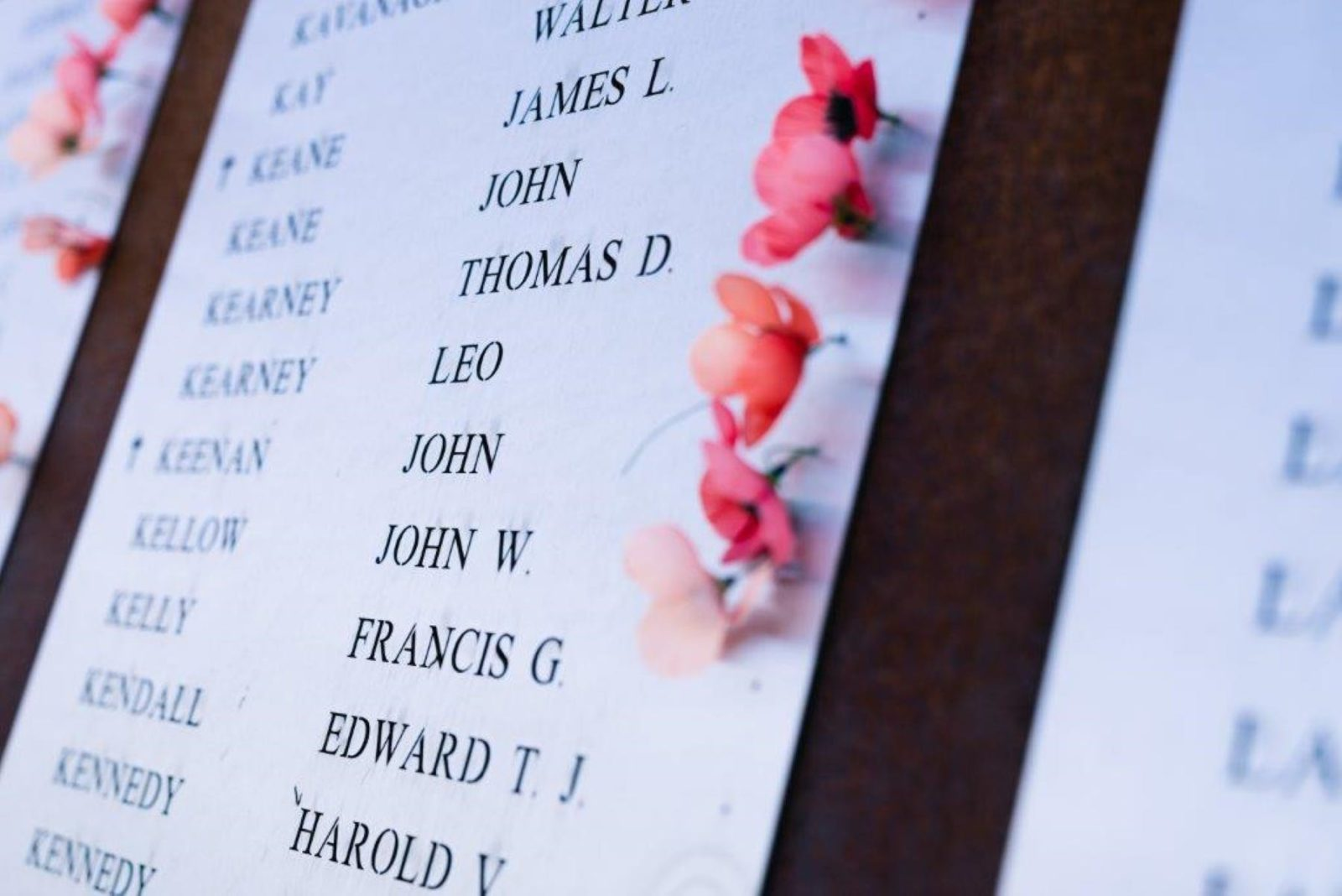 Photo of a Memorial with Poppy flowers