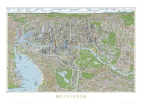 Full colour version of The Melbourne Map