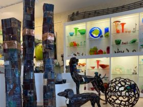 Sculptures and hand-blown glass by Australian artists feature at Town and Country Gallery Yarragon