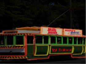 Neon Night Tram