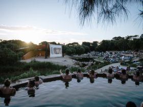 Bathe in Cinema at Peninsula Hot Springs