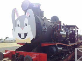 Bellarine Railway Easter Bunny headboard